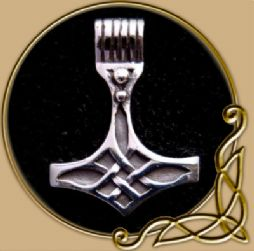 Mjölnir with celtic knot silver pendant